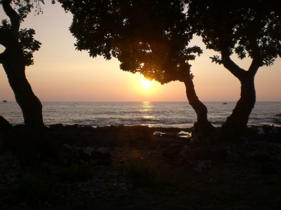 Sunset on the Kona Coast off Alli Drive