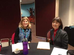With Katie Lane at a writing workshop